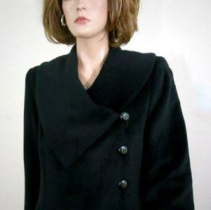 Harve Benard Black Swing Style Coat